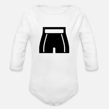 Boxing pants icon - Organic Long-Sleeved Baby Bodysuit
