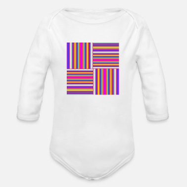 Stripes STRIPES - Organic Long-Sleeved Baby Bodysuit