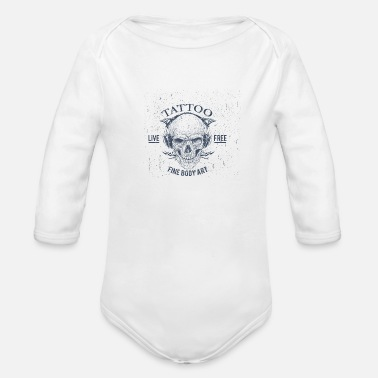 Body Art TATTOO - FINE BODY ART - Organic Long-Sleeved Baby Bodysuit