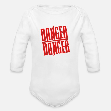 Danger Red Danger Danger - Organic Long-Sleeved Baby Bodysuit
