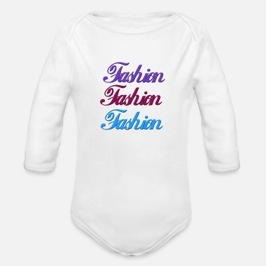 Fashion Fashion - Organic Long-Sleeved Baby Bodysuit