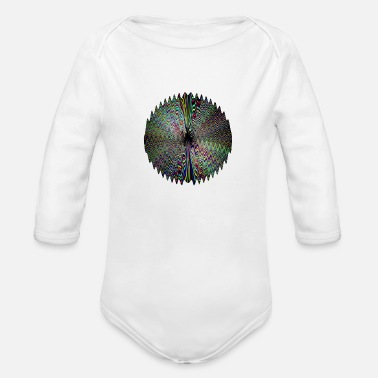 Dark Wave Dark waves of light - Organic Long-Sleeved Baby Bodysuit