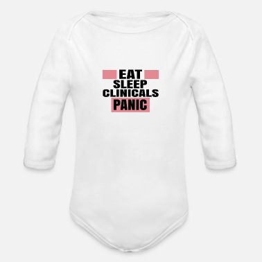 Clinic CLINICALS PANIC - Organic Long-Sleeved Baby Bodysuit