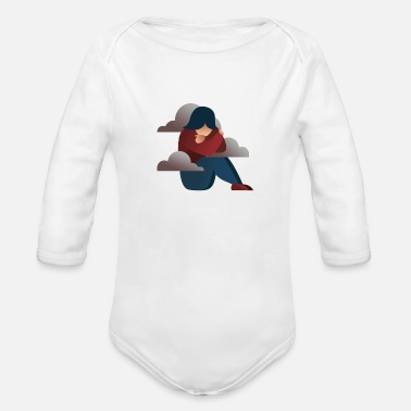 Alone Alone - Organic Long-Sleeved Baby Bodysuit