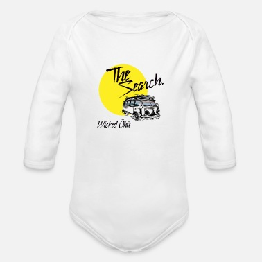 Search The Search - Organic Long-Sleeved Baby Bodysuit