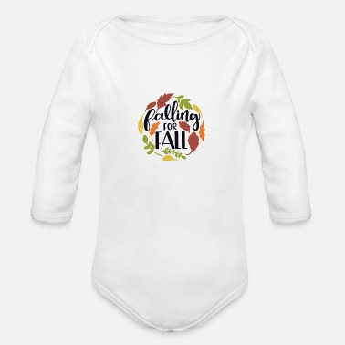 Fall Falling for fall - Organic Long-Sleeved Baby Bodysuit