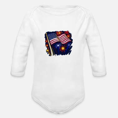 Making History Make History With America - Organic Long-Sleeved Baby Bodysuit