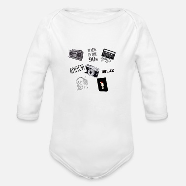 Nineties Nineties - Organic Long-Sleeved Baby Bodysuit