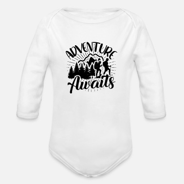 Hiking Adventure Awaits Adventure awaits hike - Organic Long-Sleeved Baby Bodysuit