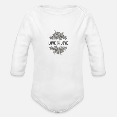 love is love - Organic Long-Sleeved Baby Bodysuit