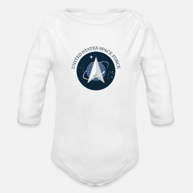United united states space force - Organic Long-Sleeved Baby Bodysuit