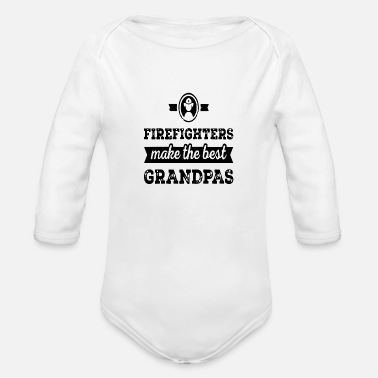 Gentleman Firefighters - Organic Long-Sleeved Baby Bodysuit