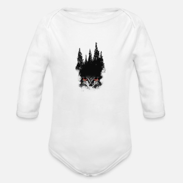 Habitat Owl Forest - Organic Long-Sleeved Baby Bodysuit