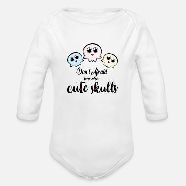Cute cute skull, cute design - Organic Long-Sleeved Baby Bodysuit