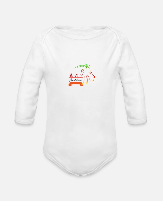 Animal Baby One Pieces - Animal lovers - Organic Long-Sleeved Baby Bodysuit white