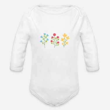 Forest Environmental protection gift environment flowers - Organic Long-Sleeved Baby Bodysuit