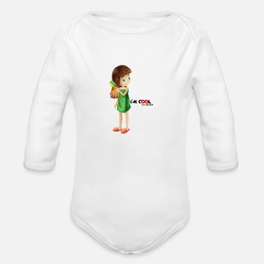 Image I'm cool - Organic Long-Sleeved Baby Bodysuit