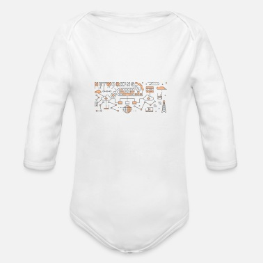 Nice Line Art Design - Organic Long-Sleeved Baby Bodysuit