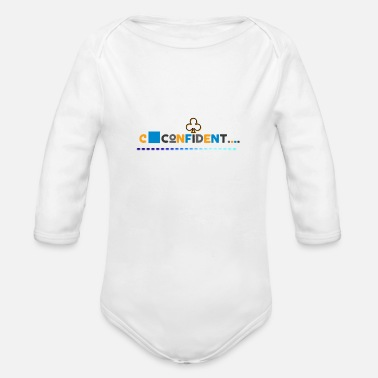 I Love My Confident t shirt - Organic Long-Sleeved Baby Bodysuit