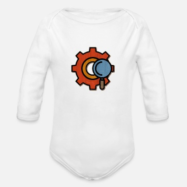 Icon Gear icon search icon test icon - Organic Long-Sleeved Baby Bodysuit