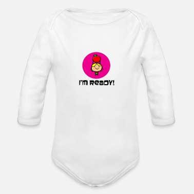 Start Of School School Starts Soon start learning - Organic Long-Sleeved Baby Bodysuit