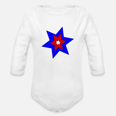 Serce stars - Organic Long Sleeve Baby Bodysuit