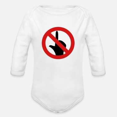 Touch No Touch - Organic Long-Sleeved Baby Bodysuit