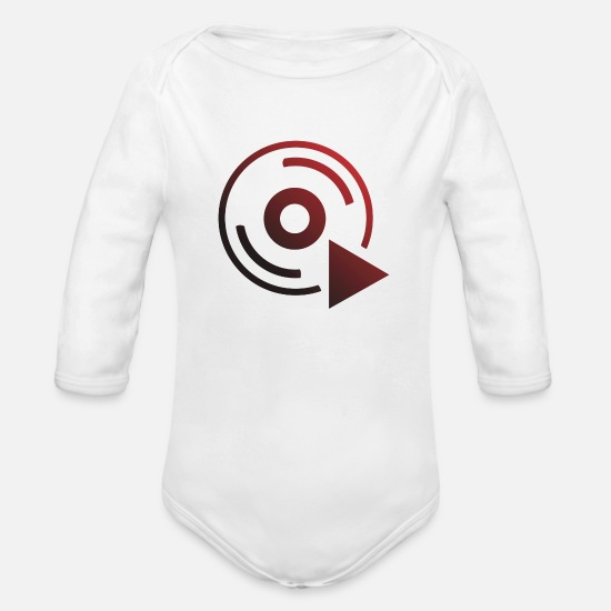 Tape Baby Clothing - cassette - Organic Long-Sleeved Baby Bodysuit white