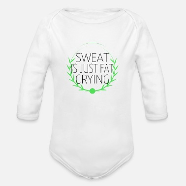 Sweat Quotes hustle animal workout swole do you even motivation - Organic Long-Sleeved Baby Bodysuit