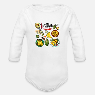 Mexican Food Mexican Food - Organic Long-Sleeved Baby Bodysuit
