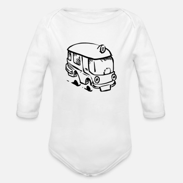 On Tour Bus on tour. - Organic Long-Sleeved Baby Bodysuit