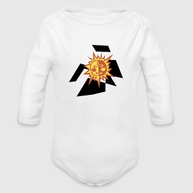 astrology science - Organic Long Sleeve Baby Bodysuit