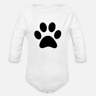Paw paw print - Organic Long-Sleeved Baby Bodysuit