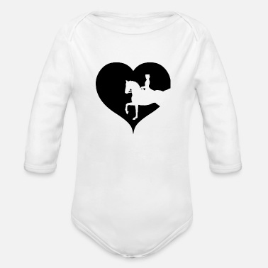 Dressage Horse Dressage horse riding equitation - Organic Long Sleeve Baby Bodysuit