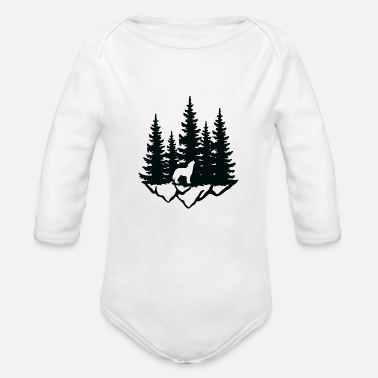 Forest Forest - Organic Long-Sleeved Baby Bodysuit