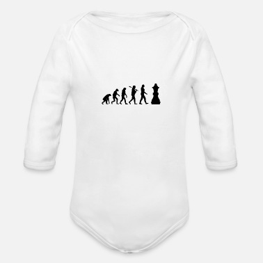 Chess evo chess - Organic Long-Sleeved Baby Bodysuit