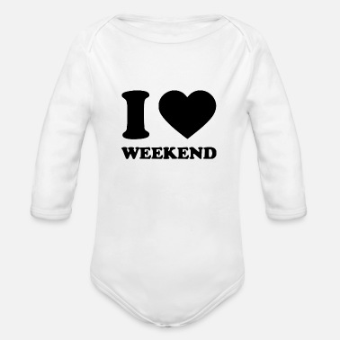 I Love i love - Organic Long Sleeve Baby Bodysuit