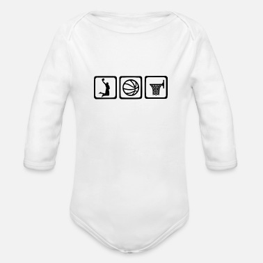 Basket bball basket - Organic Long-Sleeved Baby Bodysuit