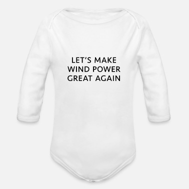 Energy Transition Wind Protection Energy Transition Eco Present - Organic Long-Sleeved Baby Bodysuit