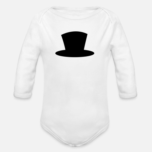 0bdbb5918c6d top hat shape magician magic Organic Long-Sleeved Baby Bodysuit ...