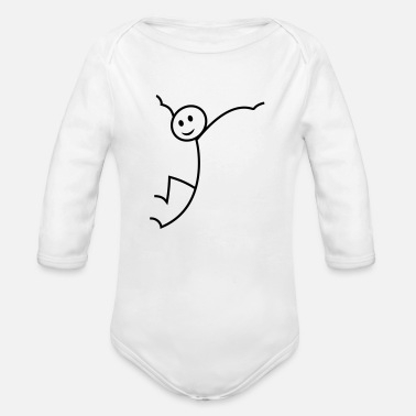 Stick Figure stick figure - Organic Long-Sleeved Baby Bodysuit