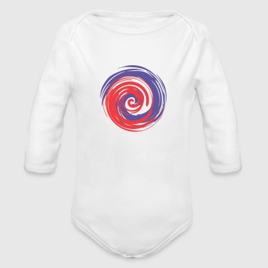 swirl of wisdom - Organic Long Sleeve Baby Bodysuit
