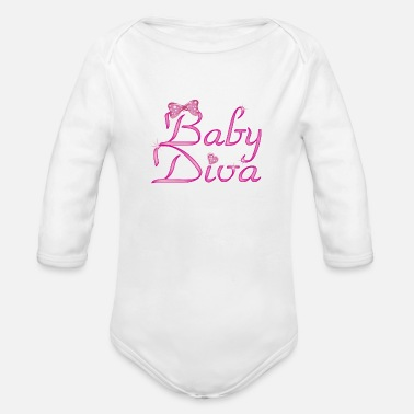 Girl Baby Diva - Organic Long-Sleeved Baby Bodysuit