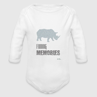 Wildlife-Rhino - Organic Long Sleeve Baby Bodysuit