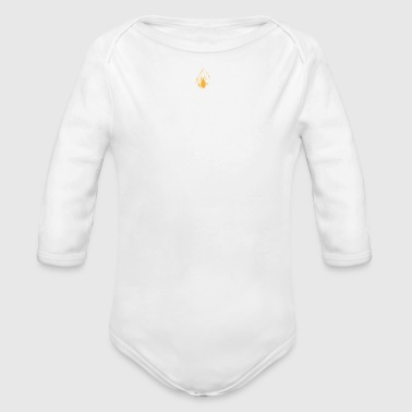 Birthday Present Blow me it's my birthday - Organic Long Sleeve Baby Bodysuit