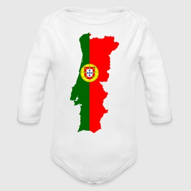 portugal - Organic Long Sleeve Baby Bodysuit