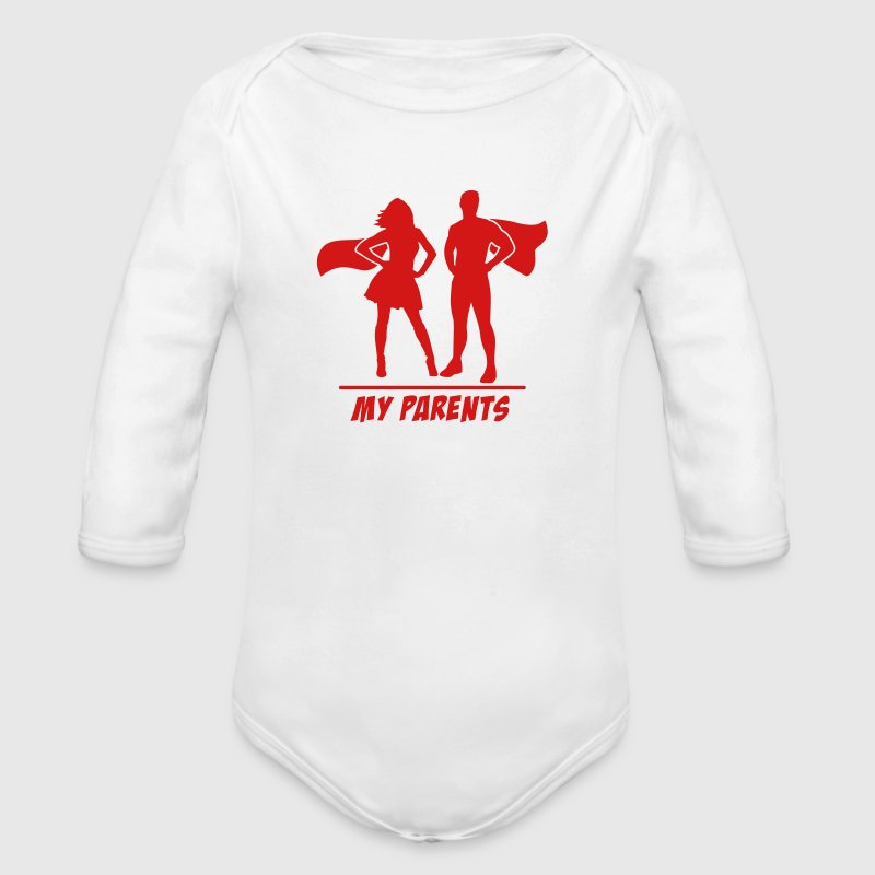 My Parents are Superheroes - Organic Long Sleeve Baby Bodysuit