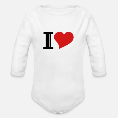 Heart i heart - Organic Long Sleeve Baby Bodysuit