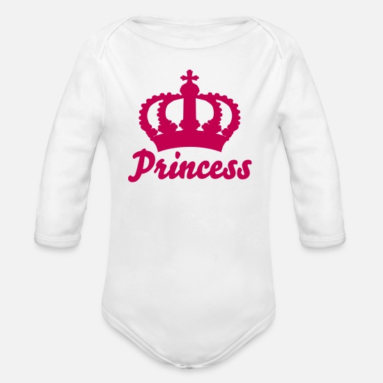 ae96f8a26 Organic Long-Sleeved Baby BodysuitKeep Calm with this Custom Crown and Custom  Text