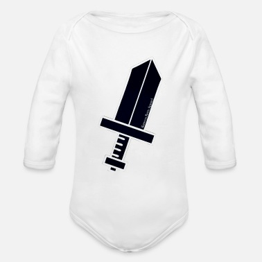 """Ramseys HERO'S SWORD"" - Organic Long-Sleeved Baby Bodysuit"